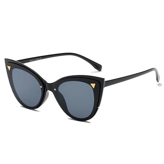 GRENOBLE | S1098 - Women Retro Fashion Round Cat Eye Sunglasses