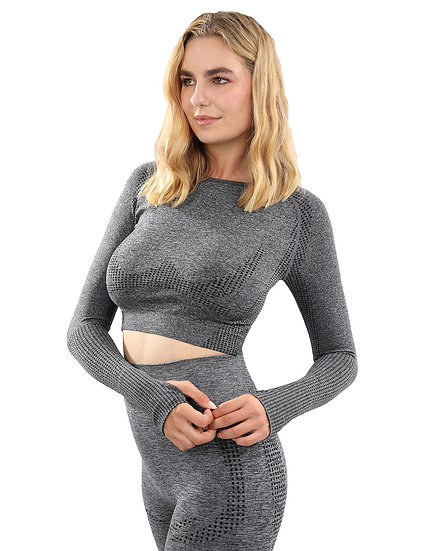 Fratessa Seamless Sports Top - Charcoal
