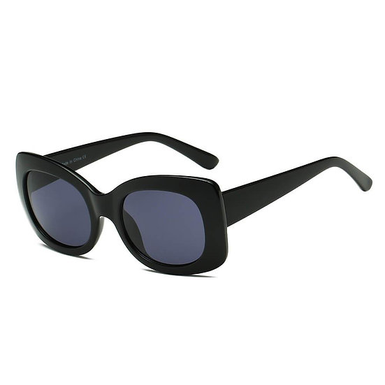 BAKU   S1063 - Women Fashion Retro Rectangle Oversize Sunglasses