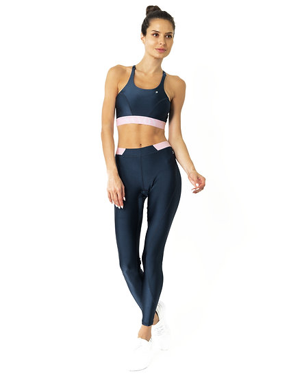 Hudson Two Piece Workout Set - Sports Crop Bra and Mid Rise Leggings