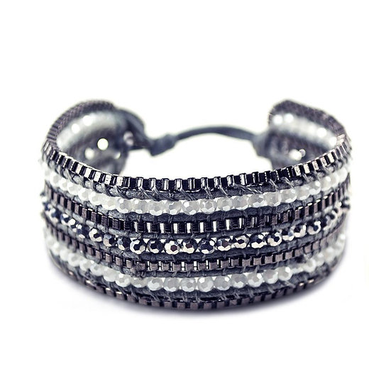 Looped Bracelet- Coal