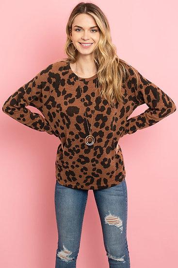 Lightweight Leopard Print Pullover