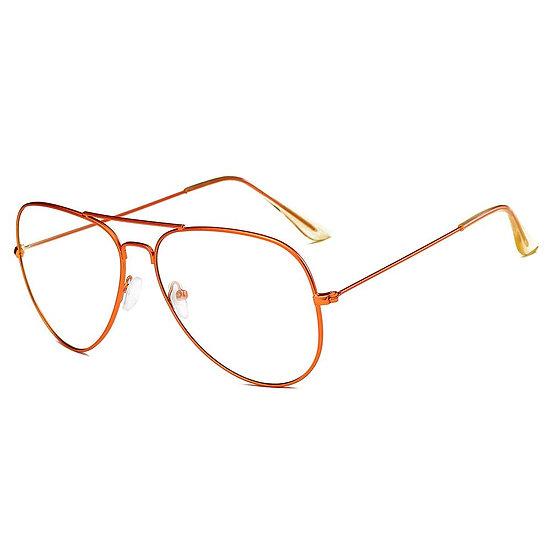 ENID   F1001 - Trendy Aviator Clear Glasses Lens Sun Glasses