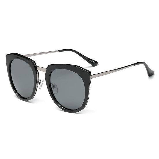 FERNDALE   CA12 - Mirrored Polarized Lens Oversize Cat Eye Sunglasses