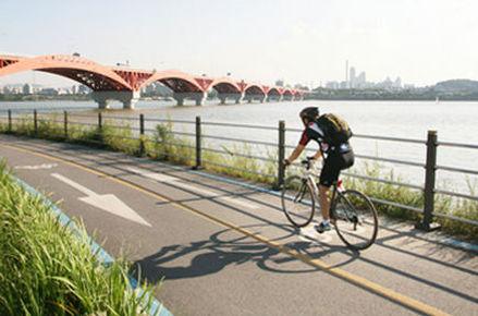 Hangang river Seoul Korea