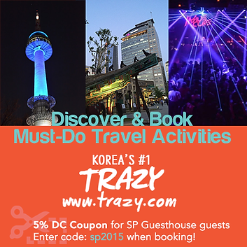 Trazy tours sightseeing events Seoul Korea