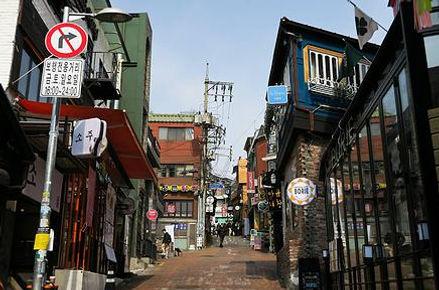 International restaurants Itaewon Seoul