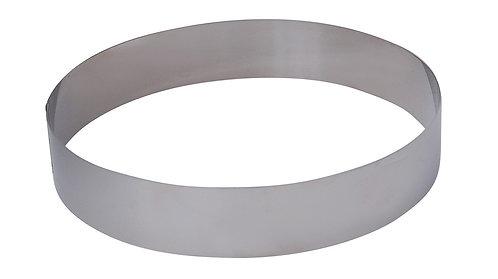 Cercle à pâtisserie rond en inox - H4,5 cm diam 22cm entremets Ref 3989.22