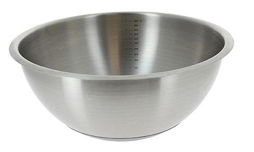 Cul-de-Poule inox fond silicone Diam30cm Ref 3373.30