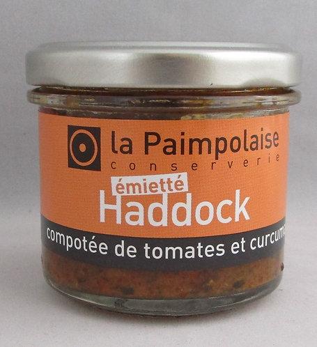 Haddock compotée de tomates et curcuma