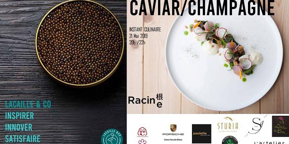 SOIRÉE CAVIAR et CHAMPAGNE en partenariat avec kazuyuki Tanaka chef étoilé du restaurant Racine