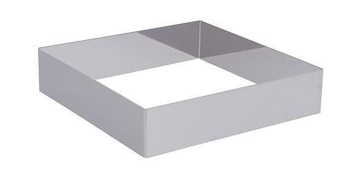 Cercle à entremets carré en inox H4,5 cm L24 Ref 3906.24