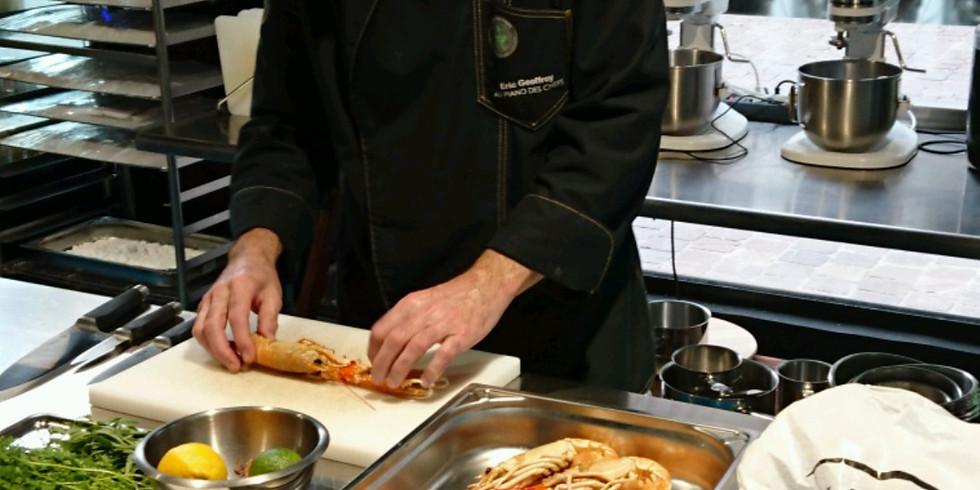 Atelier FOIS GRAS - COMPLET Foie gras en terrine et son chutney, en ravioli et son jus de volaille