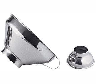 Entonnoir à confiture inox Avec 2 embouts: pour pots de 3.5 et 6cm Ref 3356.00
