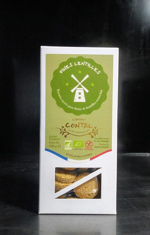 Buiscuits Fines lentilles vertes Bio de chez Contal Farmer Ardennes