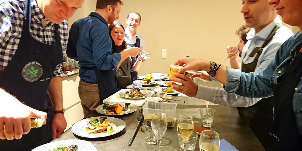 """Atelier diététique gourmand """"EQUILIBRE ACIDO-BASIQUE"""" avec Aude Bazin diététicienne/micro-nutritionniste et le chef Eric"""