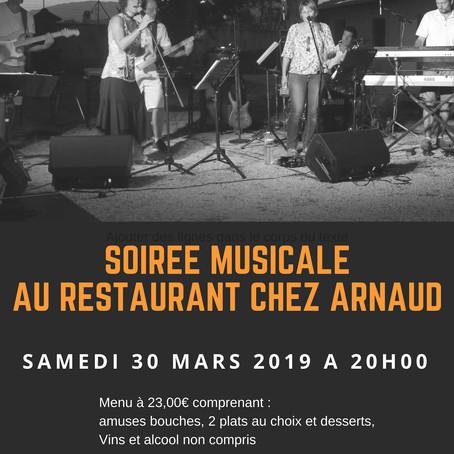 D'Ici et D'ailleurs au Restaurant Chez Arnaud