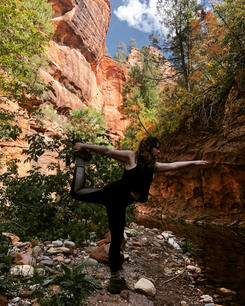 Dancer Pose in Sedona