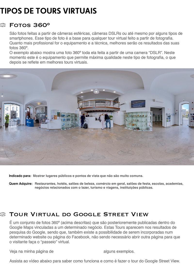 Tipos de Tours Virtuais - Fotos 360º, Tour Virtual do Google Street View, Tour Virtual Interactivo