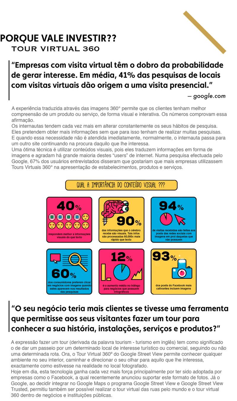 Porque vale investir num Tour Virtual 360º ?? Razões principais