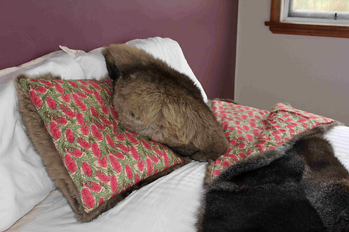 WALLABY FUR CUSHION COVERS