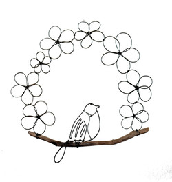 Poésie sculpture oiseau