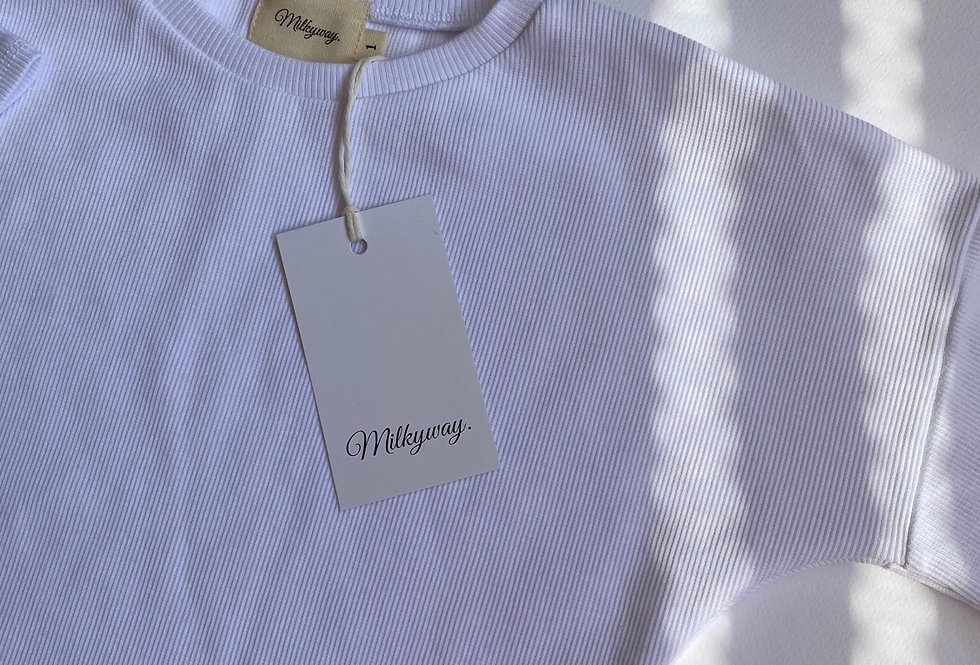 Ribbed T-shirt - Milky