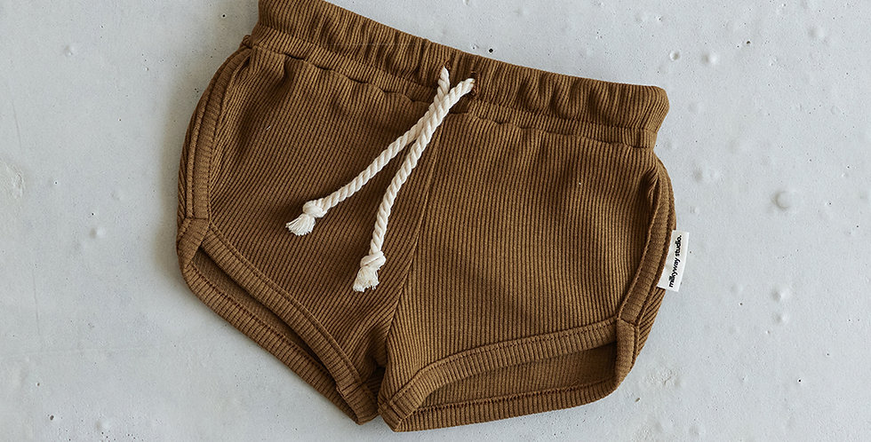 Ribbed Short - Coffee
