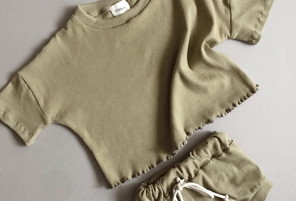 Ribbed Tee - Olive