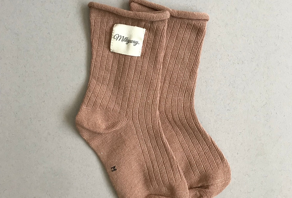 Milkyway Socks - Dusty Rose