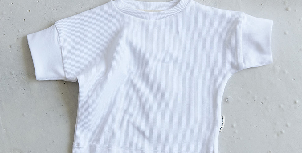 Ribbed T-shirt - Blanc