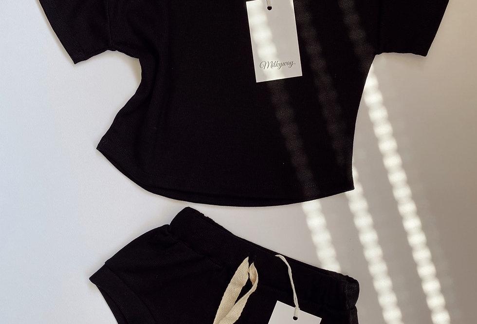 Ribbed Mini Set - Blackie