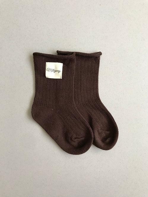 Milkyway Socks - Chocolate Brown