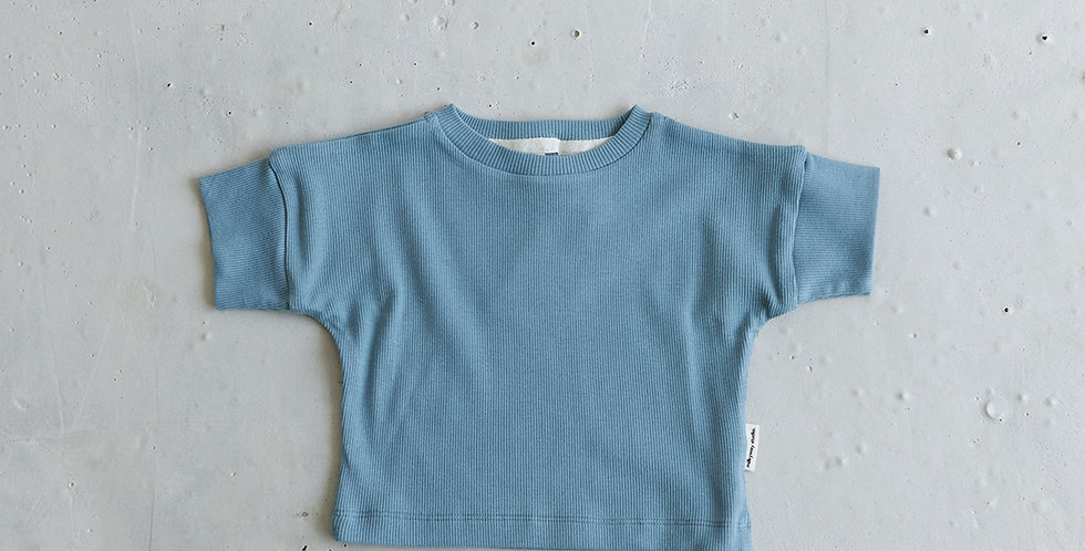 Ribbed T-shirt - Ocean