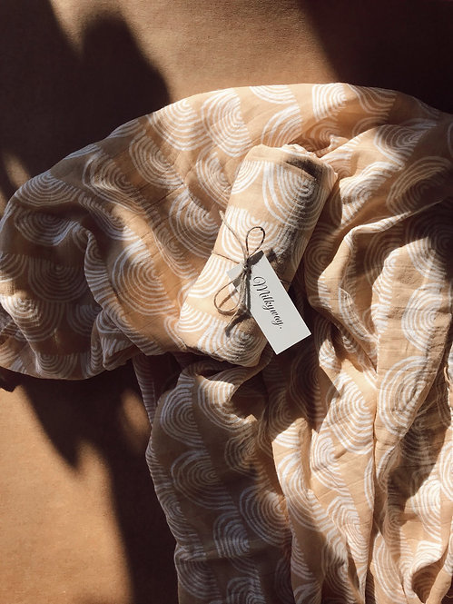 Muslin Swaddle Blanket - Anuenue