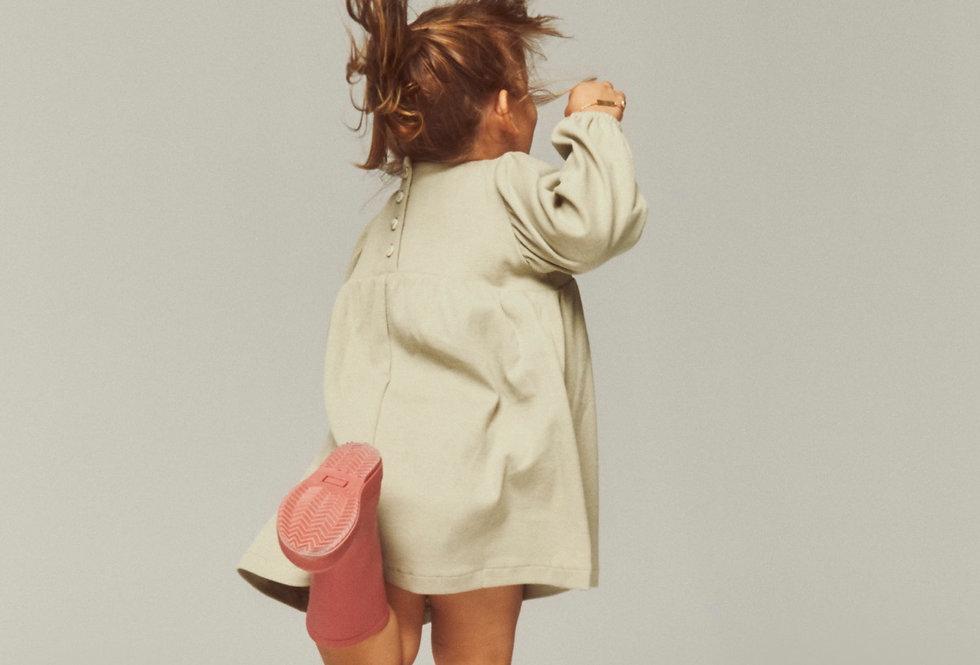 Ribbed Petit Dress - Elm