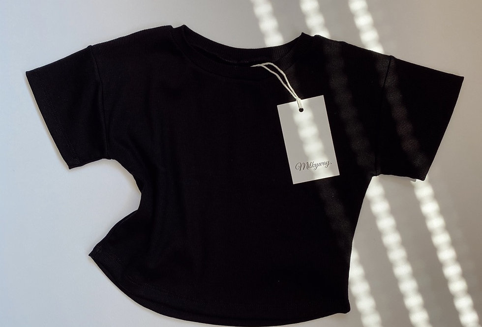 Ribbed T-shirt - Blackie