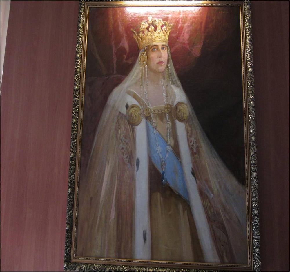 Queen Marie - Photo in the Unification Museum, Alba Iulia