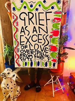 Grief as an excess of love overspilling from the guts