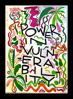 Power in Vulnerability handprinted 1/1