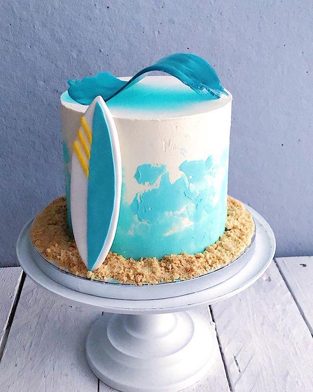 Surf kinda birthdaycake!🏄♂️_Tällä kaku