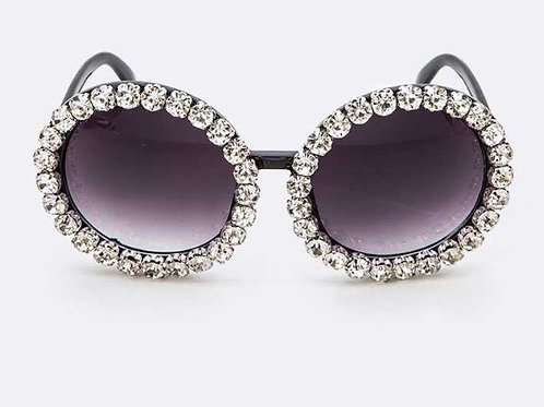 Crystal Clear Round Sunglasses
