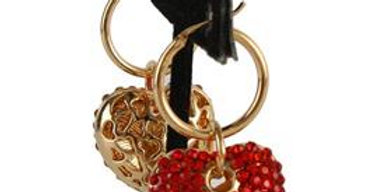 Be Mine Red Heart Earrings