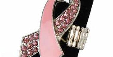 Pink Ribbon Stretchy Ring