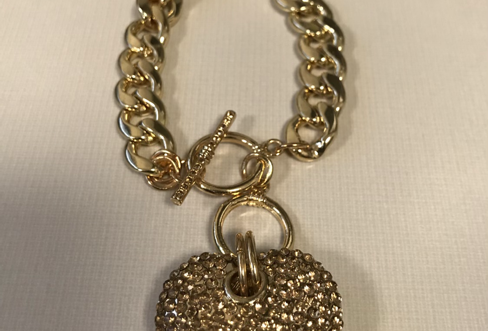 Gold Studded Bracelet Chain