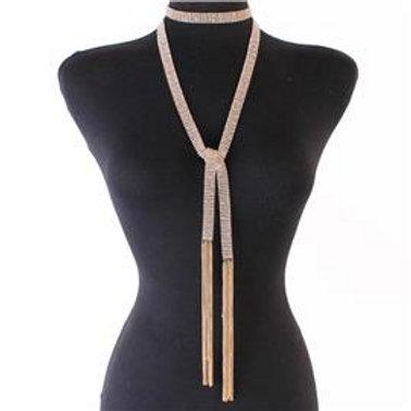 Studded Wrap Around Necklace