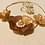 Thumbnail: Acrylic Tan Colored Flower Necklace