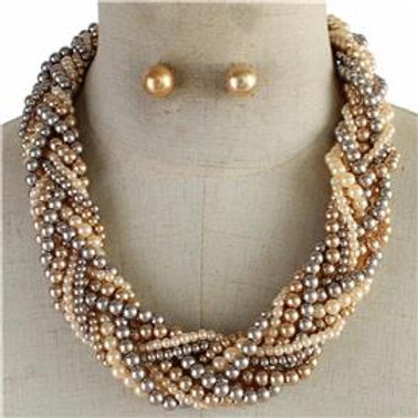 Braided Pearl Necklace