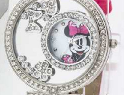 Minnie Mouse Hot Pink Studded Watch