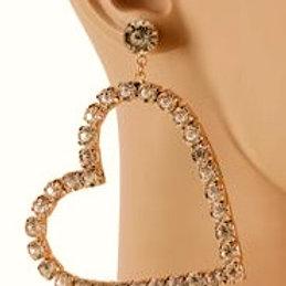 My Crystal Heart Earrings